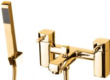 DoratO Moderno Bath Shower Mixer Tap in 24ct Gold